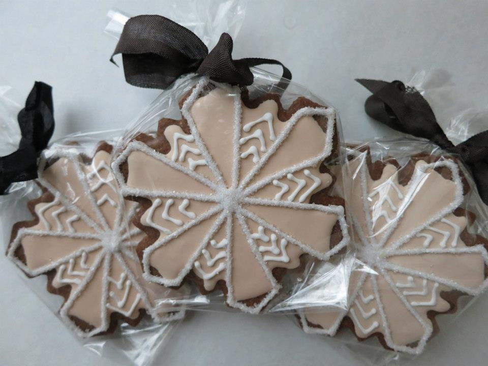 Art Deco Snowflake. $20 for set of 3. Favors are individually wrapped.